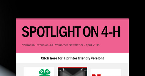 SPOTLIGHT ON 4-H