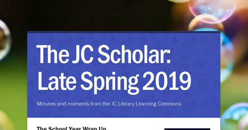 The JC Scholar: Late Spring 2019