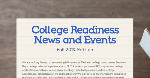 College Readiness News and Events
