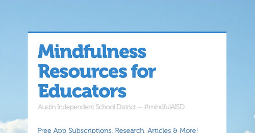 Mindfulness Resources for Educators