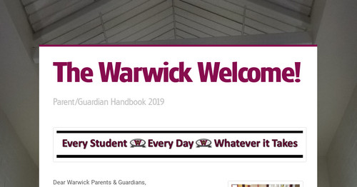 The Warwick Welcome!
