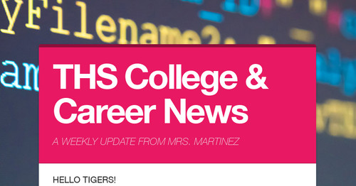 THS College & Career News