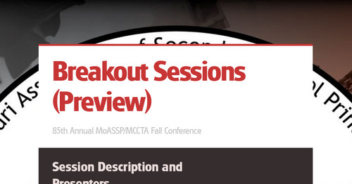 Breakout Sessions (Preview)