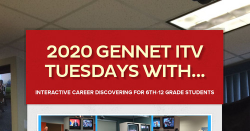 2020 GenNET ITV Tuesdays With...