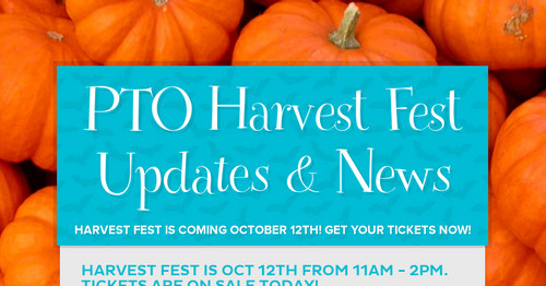 PTO Harvest Fest Updates & News