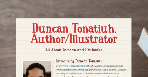 Duncan Tonatiuh, Author/Illustrator