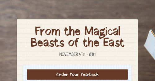 From the Magical Beasts of the East