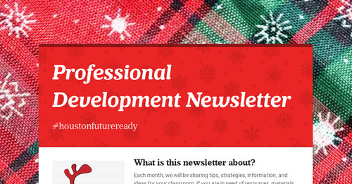 Professional Development Newsletter