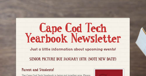 Cape Cod Tech Yearbook Newsletter