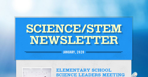 SCIENCE/STEM NEWSLETTER