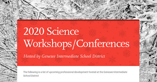 2020 Science Workshops/Conferences
