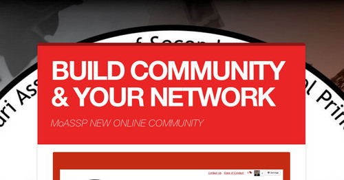 BUILD COMMUNITY & YOUR NETWORK