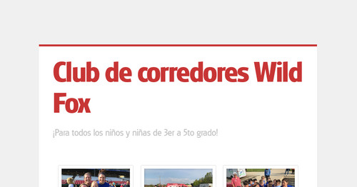 Club de corredores Wild Fox