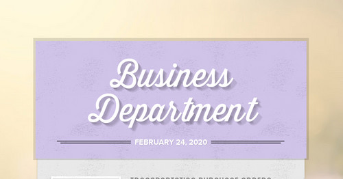 Business Department