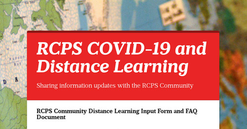 RCPS COVID-19 Information Update