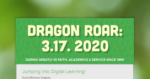Dragon Roar: 3.17. 2020