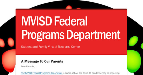 MVISD Federal Programs Department