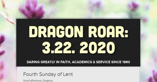 Dragon Roar: 3.22. 2020