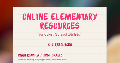 Online Elementary Resources