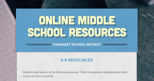 Online Middle School Resources
