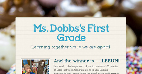 Ms. Dobbs's First Grade