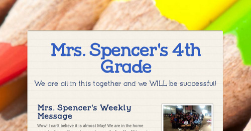 Mrs. Spencer's 4th Grade