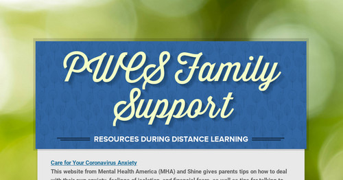 PWCS Family Support