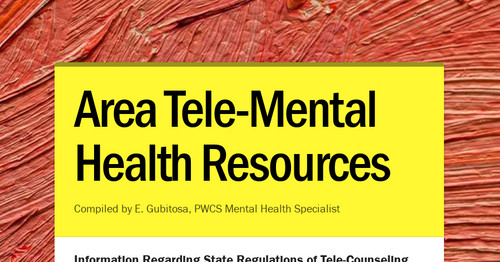 Area Tele-Mental Health Resources