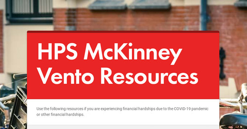 HPS McKinney Vento Resources
