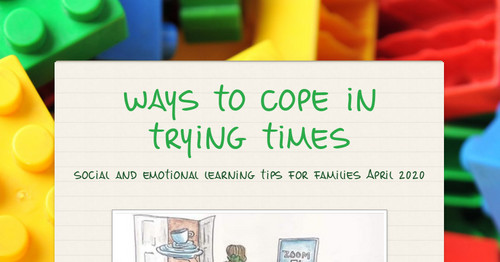 ways to cope in trying times