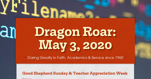 Dragon Roar: May 3, 2020