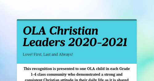 OLA Christian Leaders 2020-2021