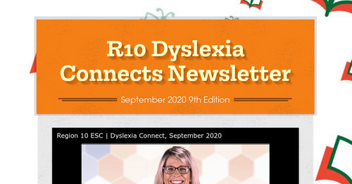 R10 Dyslexia Connects Newsletter