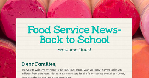 Food Service News-Back to School