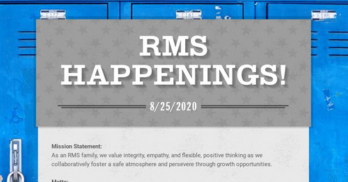 RMS Happenings!