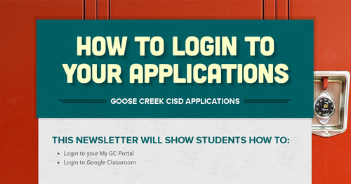 How to login to your applications