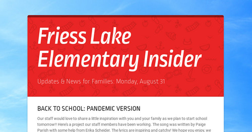 Friess Lake Elementary Insider