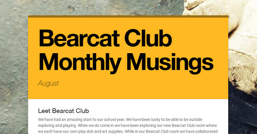Bearcat Club Monthly Musings