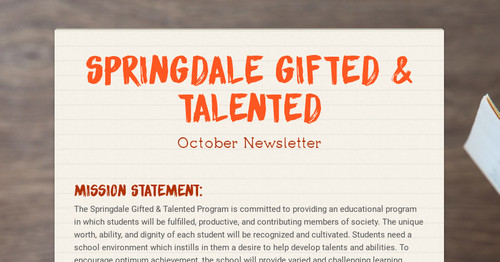 Springdale  Gifted & Talented