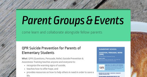 Parent Groups & Events