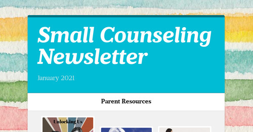 Small Counseling Newsletter