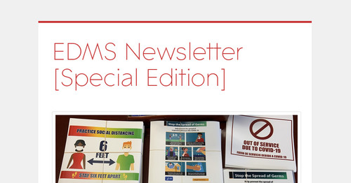 EDMS Newsletter [Special Edition]