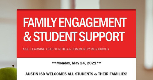 FAMILY ENGAGEMENT & STUDENT SUPPORT