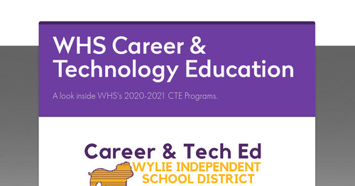 WHS Career & Technology Education