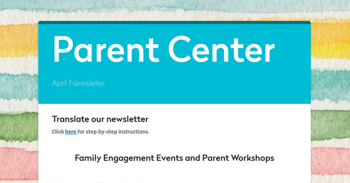 Parent Center