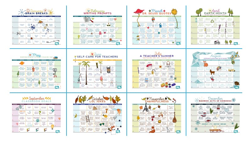Our Free 2019 Teacher Calendar Is Available Now