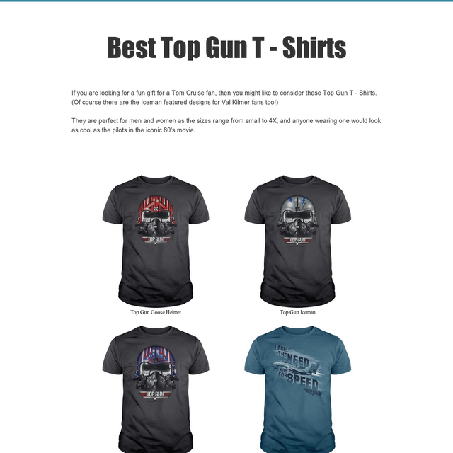 Best Top Gun T - Shirts