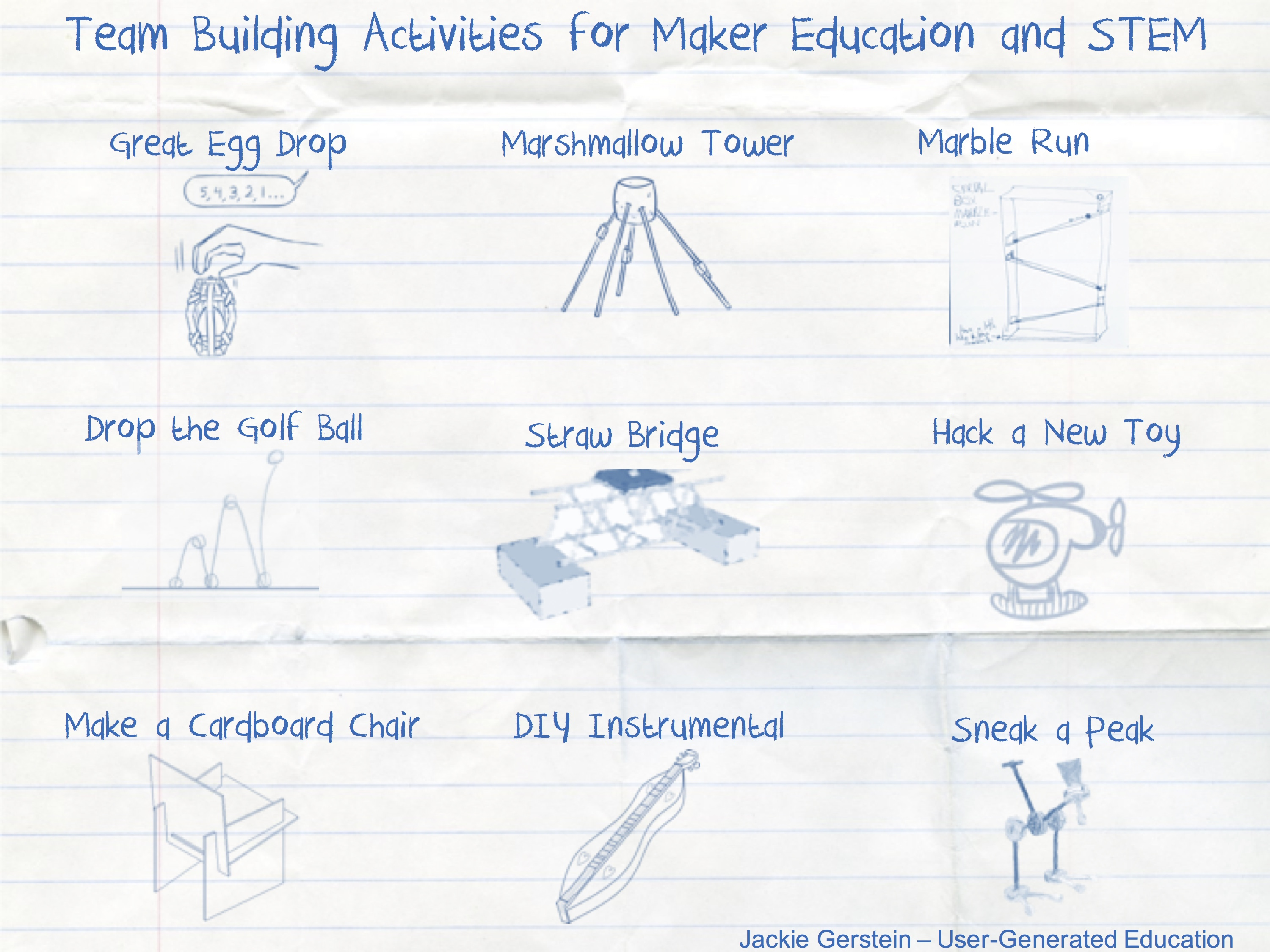 Team Building Activities That Support Maker Education, STEM, and STEAM