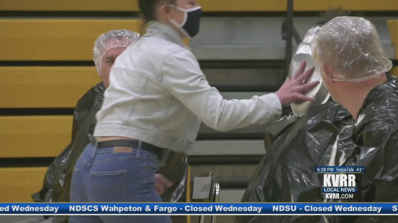 Teachers get pied as a reward for students who donated to Great Plains Food Bank - KVRR Local News