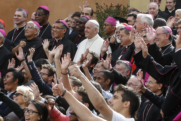 Pope Francis concludes synod by condemning 'the continuous accusations to smear the church.'